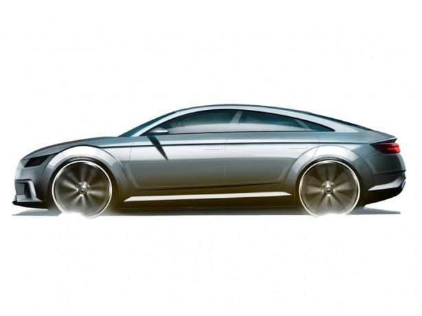 Audi TT Sportback concept sketch side