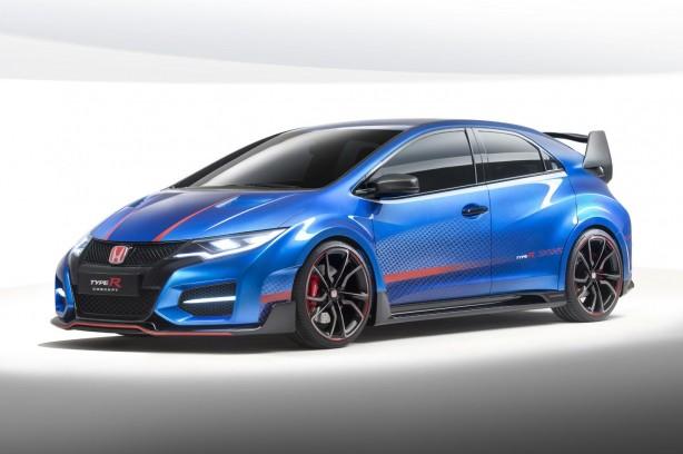 Honda Civic Type R concept II front quarter