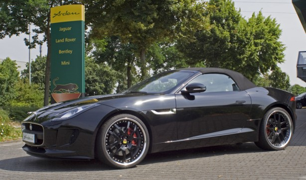 Jaguar F-Type convertible tuned by Arden side