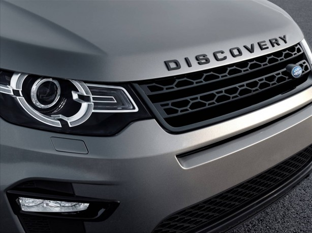 Land Rover Discovery Sport front headlight and grille