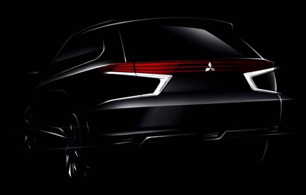 Mitsubishi Outlander PHEV Concept-S rear
