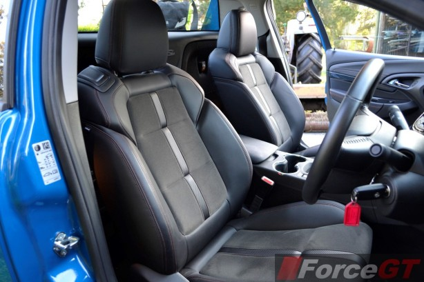 2014 Holden VF SS Storm Ute front seats