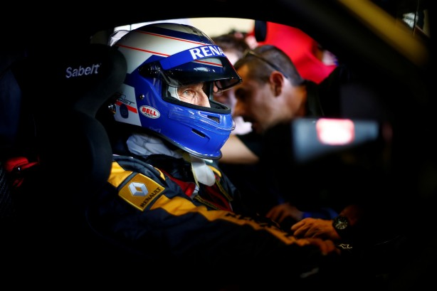 Alain Prost behing the wheel of Renault Sport RS 01