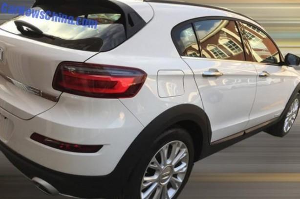 Qoros 3 City SUV spy photo rear quarter