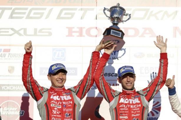 Tsugio Matsuda and Ronnie Quintarelli win the 2014 Super GT Championship