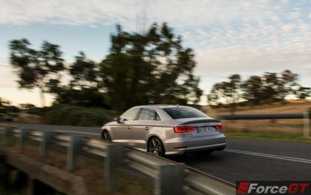 2014 Audi S3 Sedan rear quarter-1
