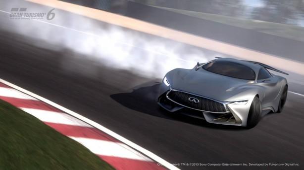 Infiniti Concept Vision Gran Turismo drifting