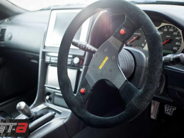 R34 Nissan Skyline from Fast and Furious 4 Momo steering wheel