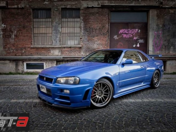 R34 Nissan Skyline from Fast and Furious 4 front quarter