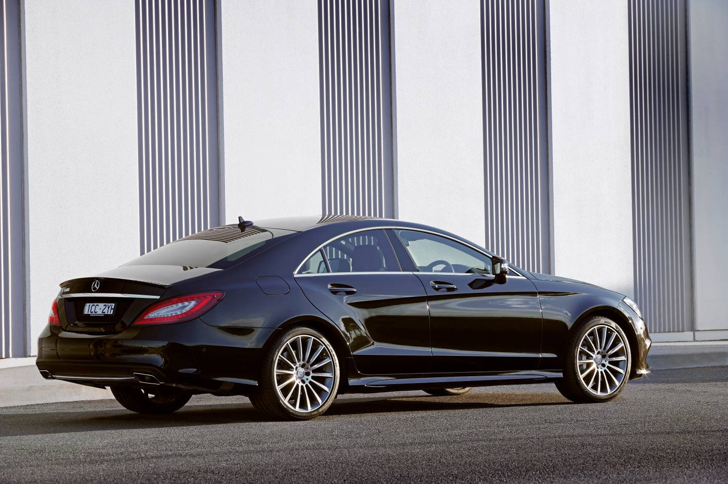 Mercedes-Benz revises CLS Coupe and CLS Shooting Brake for ... Traffic Cone On Road