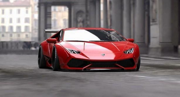 Lamborghini Huracan wide body by Liberty Walk with GT wing