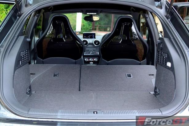 2015 Audi S1 Sportback luggage space seats down