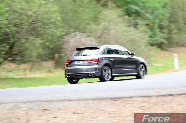 2015 Audi S1 Sportback rear quarter rolling