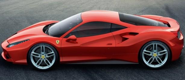 Ferrari 488 GTB side