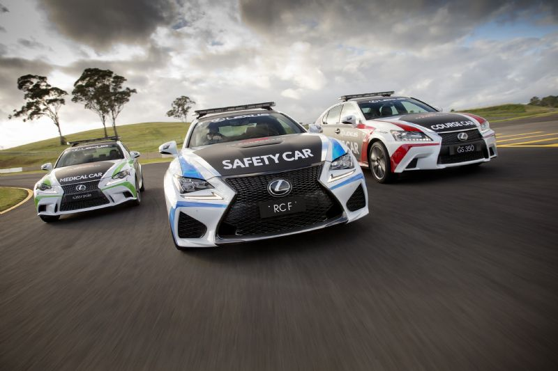 Lexus Rc F Is The Official 2015 V8 Supercars Safety Car