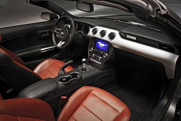 2015 Ford Mustang GT Convertible interior