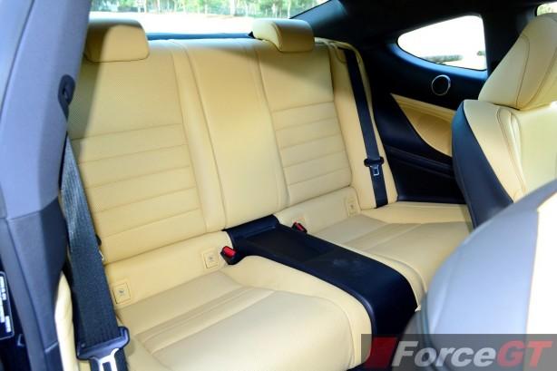 2015 Lexus RC 350 Sports Luxury rear seats