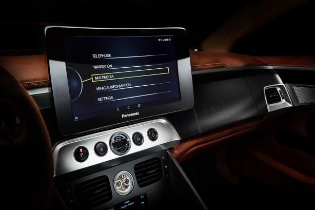 Aston Martin Thunderbolt by Henrik Fisker Panasonic Curve Control Screen
