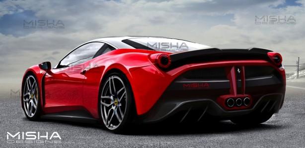 FXX K-Style Ferrari 458 by Misha Designs rear quarter