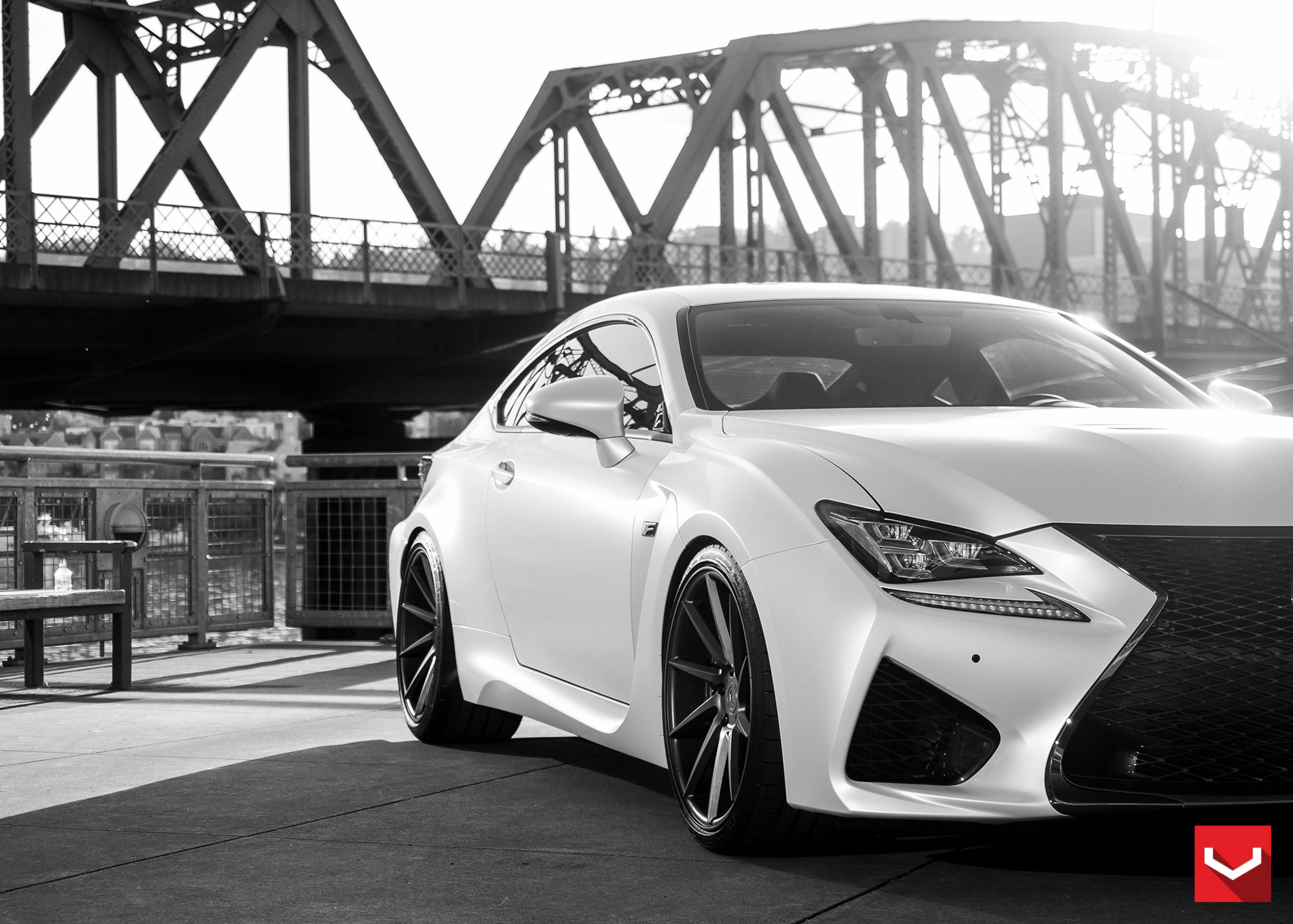 Toyota Of Alvin >> Tweaked: Lexus RC F in Matte White and Vossen VPS 311 ...