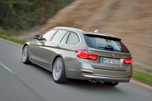 2015 BMW 3 Series wagon rear quarter