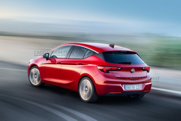 2016 Opel Astra leaked image rear quarter
