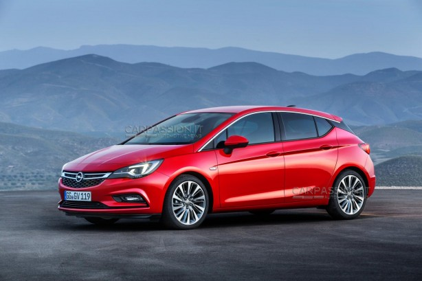 2016 Opel Astra leaked image side