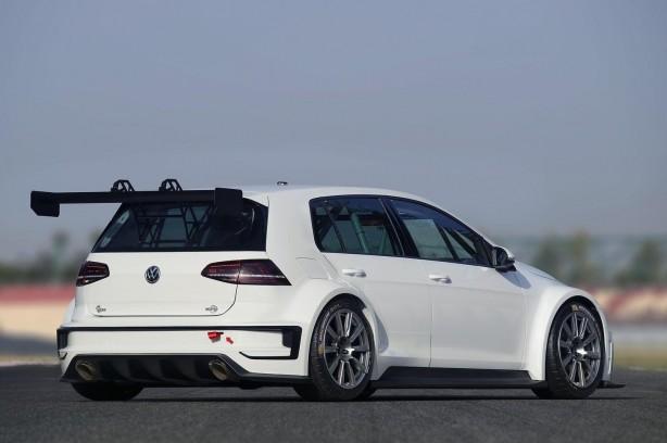Volkswagen Motorsport Golf racing concept rear quarter