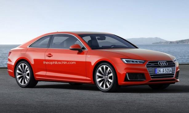 2016 Audi A5 render front quarter