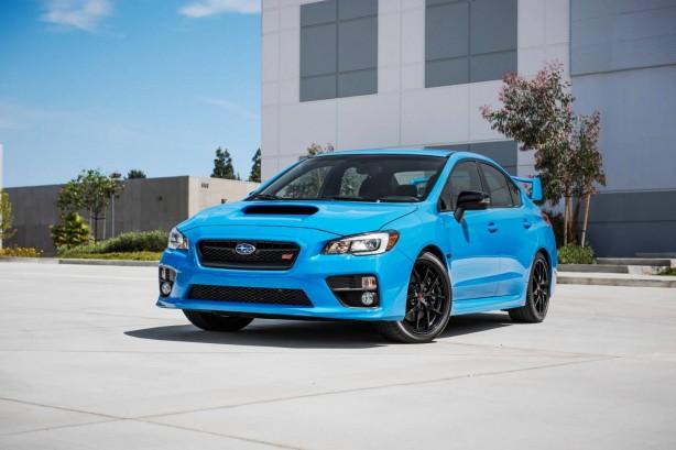 2016 Subaru WRX STI in Hyper Blue