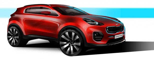 All-new Kia Sportage sketch front quarter