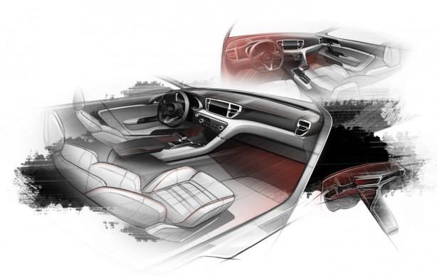 All-new Kia Sportage sketch interior