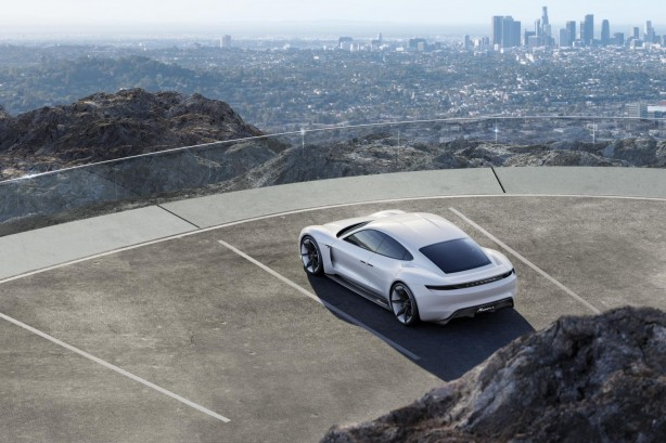 Porsche Mission E concept rear quarter