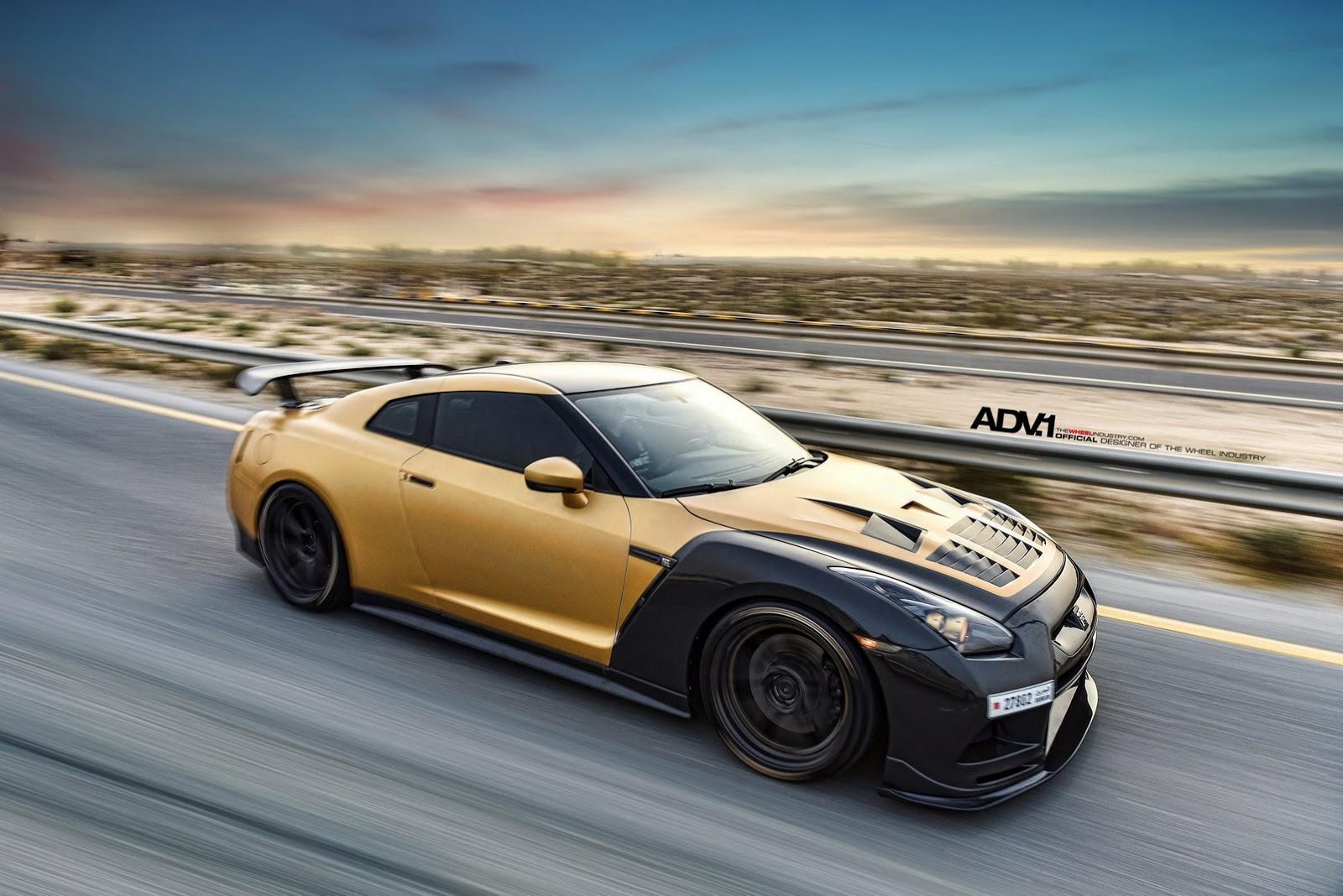 Nissan Tuning: Stunning ADV1 Carbon & Gold Nissan GT-R