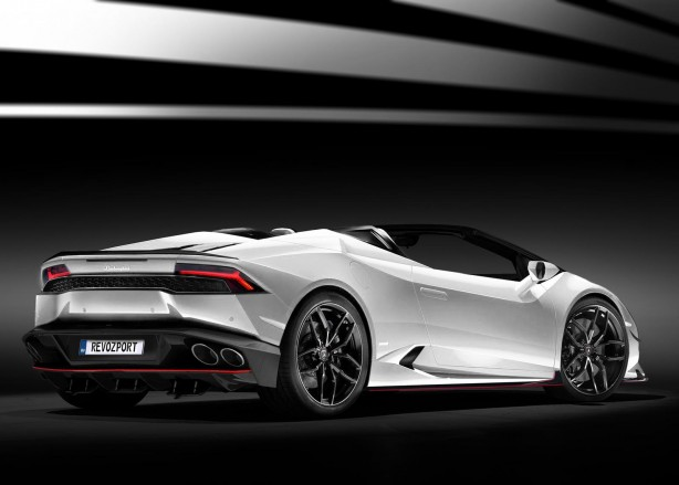 Lamborghini Huracan Spyder by RevoZport rear quarter