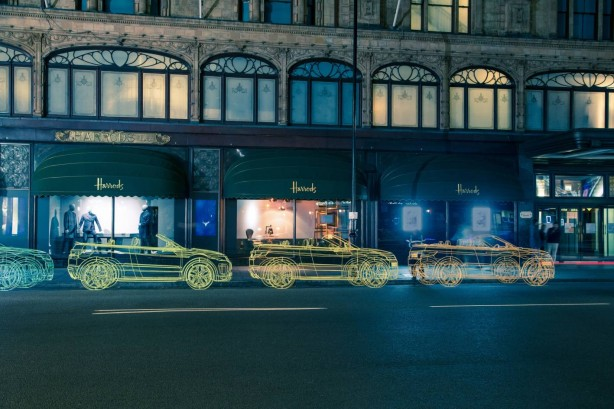 Range Rover Evoque Convertible wireframe sculptures-5