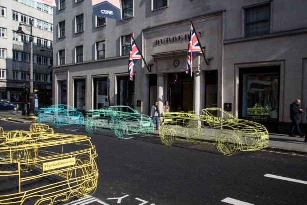 Range Rover Evoque Convertible wireframe sculptures