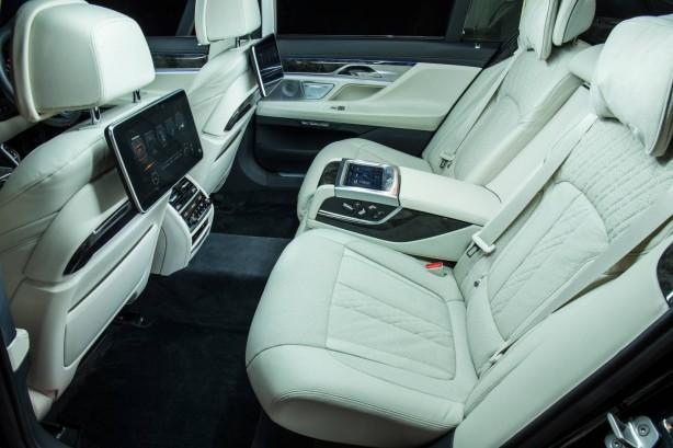 2016 BMW 740Li rear seats