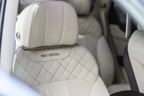 Bentley Bentayga First Edition diamond quilted seats