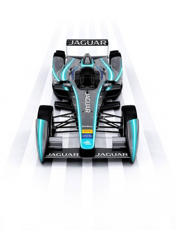 Jaguar Formula E racer front