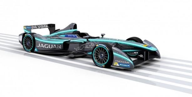 Jaguar Formula E racer front quarter