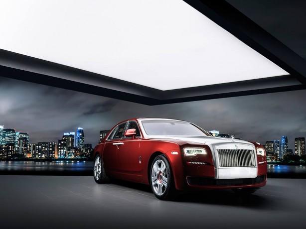 Rolls-Royce Ghost Red Diamond front quarter