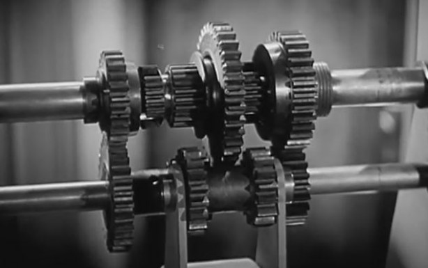 retro 1936 video chevrolet auto mechanics spinning gears