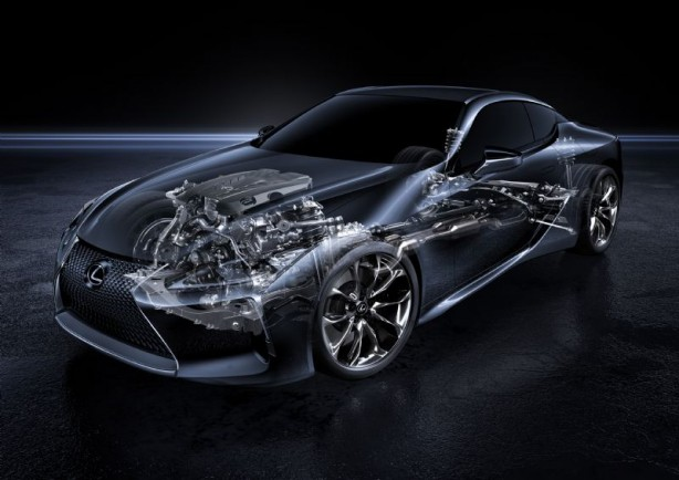 2017 Lexus LC 500 coupe powertrain