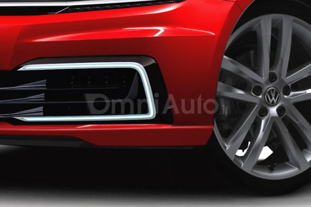 2017 Volkswagen Golf rendering LED daytime running light