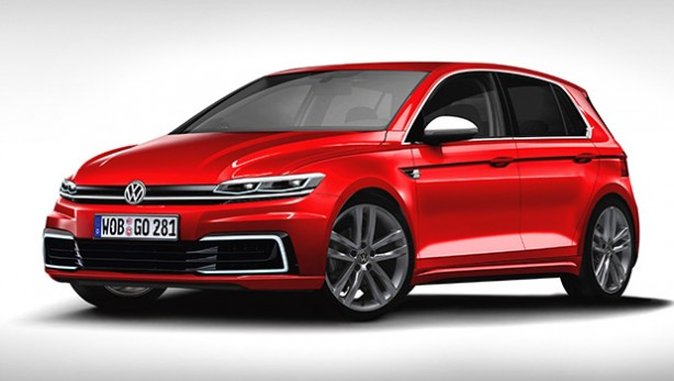 2017 Volkswagen Golf rendering front quarter