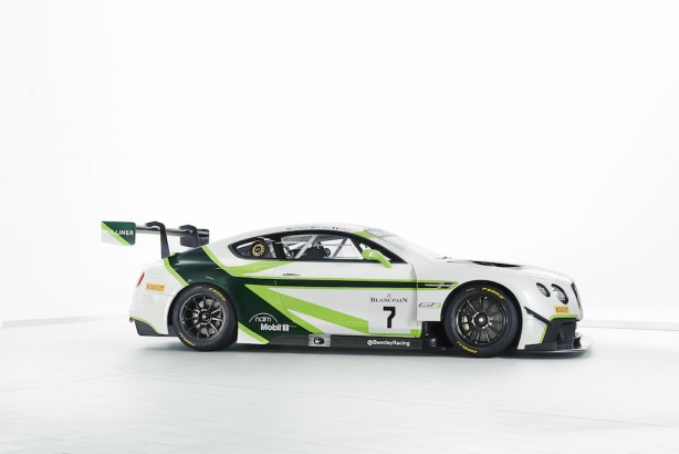 The 2016 Bentley Team M-Sport Continental GT3 side