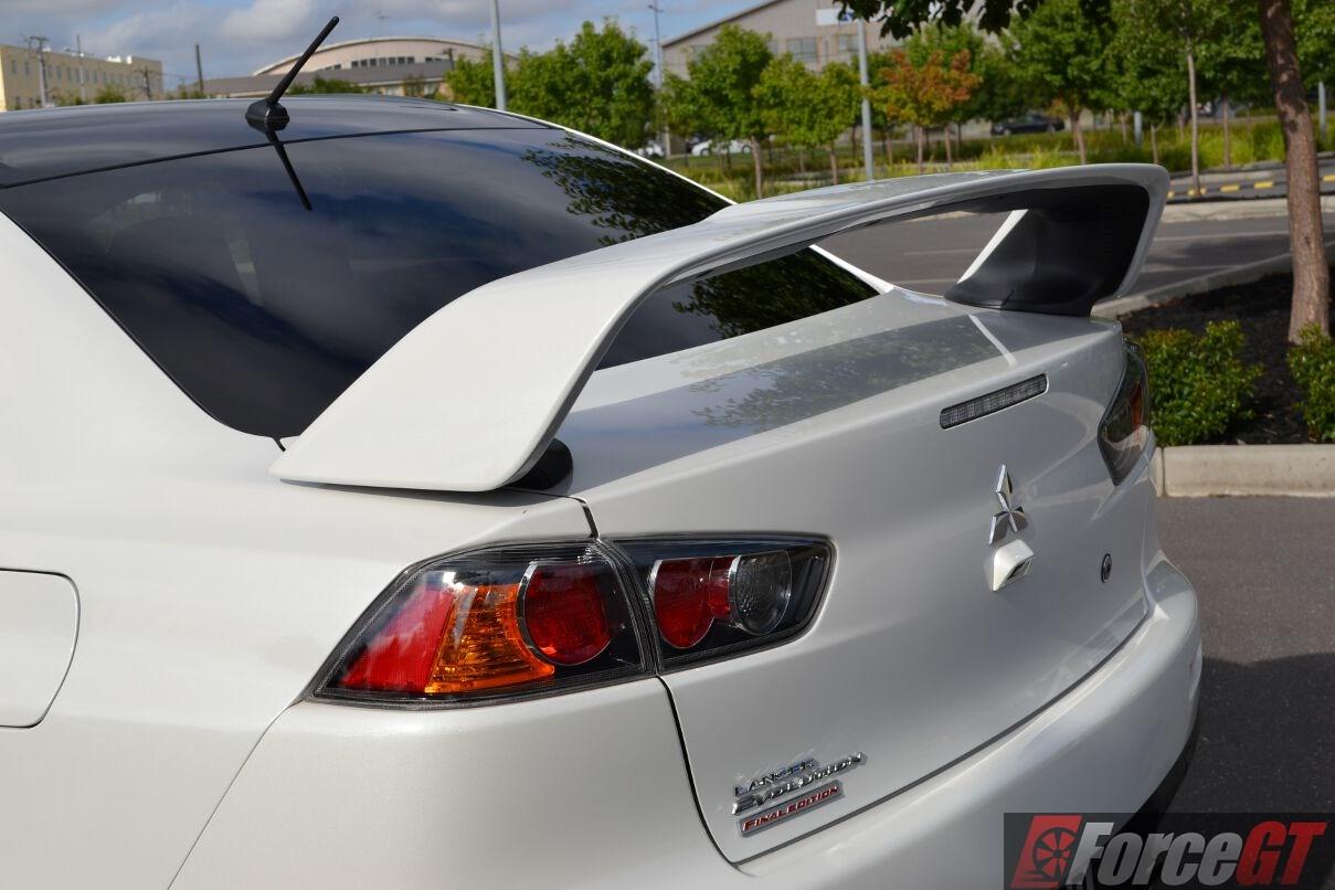 Mitsubishi Evo X Final Edition Rear Spoiler on 4 6 Triton Engine Review