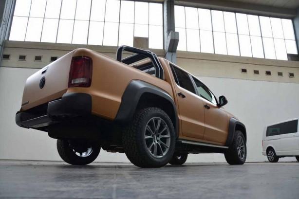 mtm volkswagen amarok v8 desert edition rear quarter