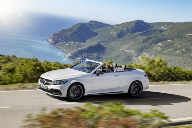 2017 mercedes-amg c63 cabriolet side-1